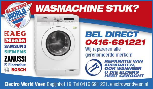 Electro World Veen wasmachine reparatie
